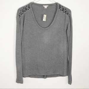 AEROPOSTALE Lightweight Gray Sweater XS